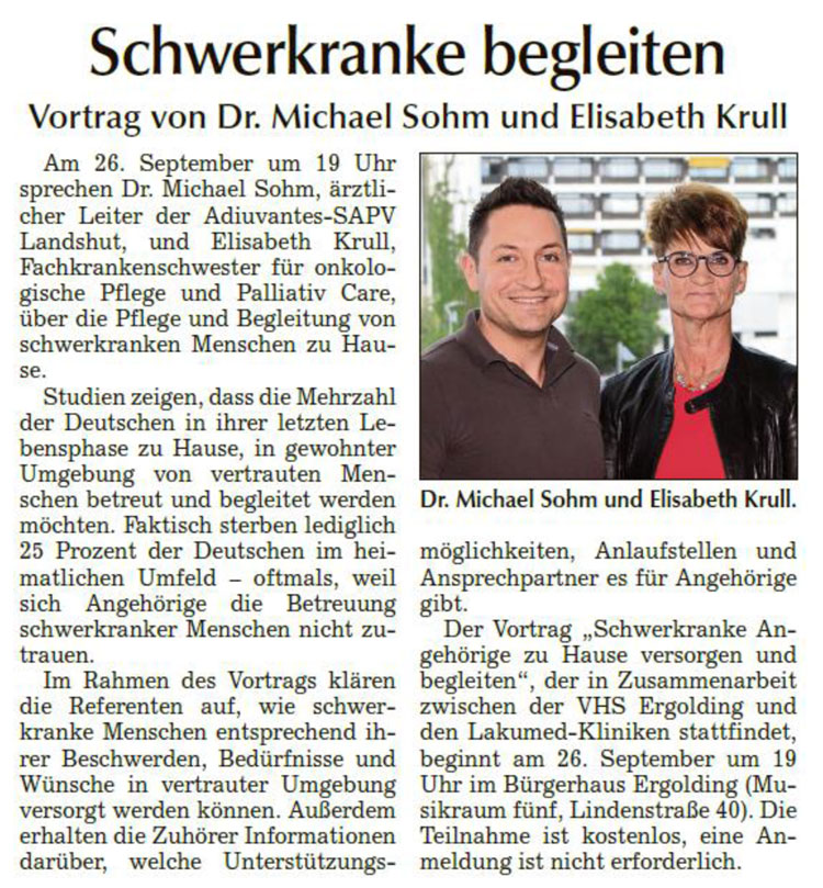 Qualitative palliative Begleitung